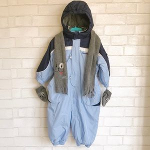 ZeroXposur Blue One Piece Snowsuit with Extras
